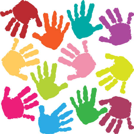 Prints of hands of the child Stock Vector - 12422333
