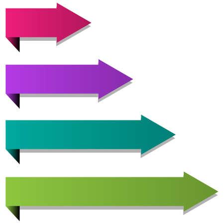 Paper arrows Stock Vector - 12422385
