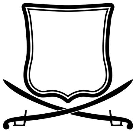 sword silhouette: Coat of arms