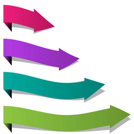 Paper arrows Stock Vector - 12810041