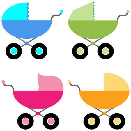Cochecito para bebé Ilustración de vector