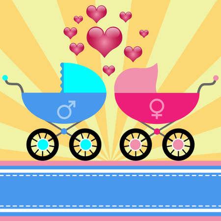 Stroller for baby Vector