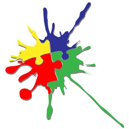 entreprise puzzle: R�flexion Illustration