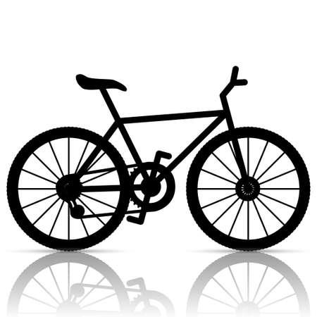 mountain bicycle: Bicicletta Vettoriali