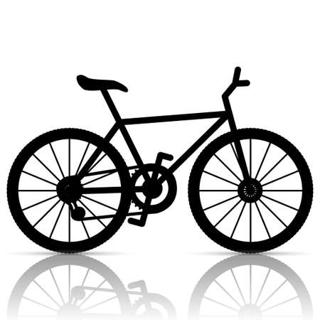 transportation silhouette: Bicycle Illustration