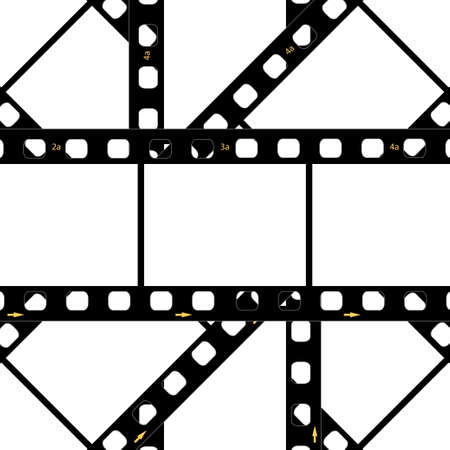 film frame: Filmstrip background frame Illustration