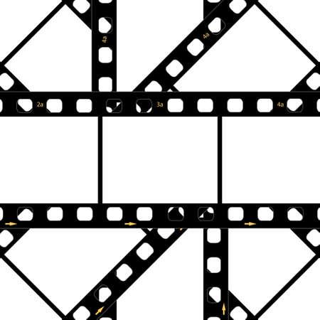 film projector: Filmstrip background frame Illustration