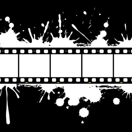 Filmstrip background frame Vector