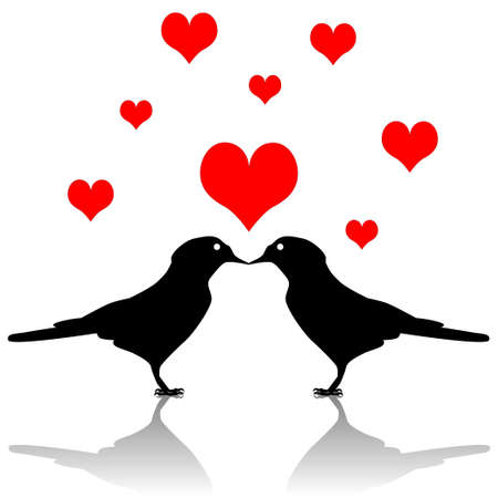 Bird love Vector