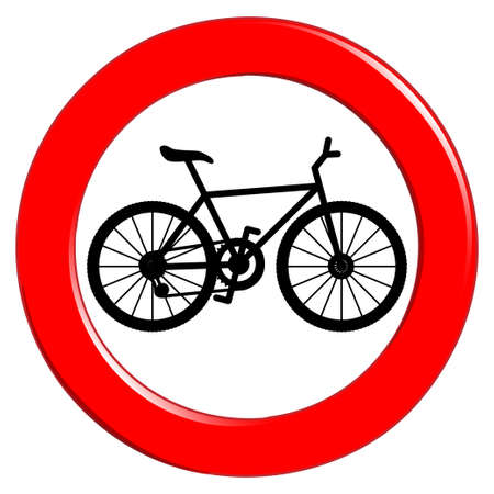 bicycle icon: No bicycle sign
