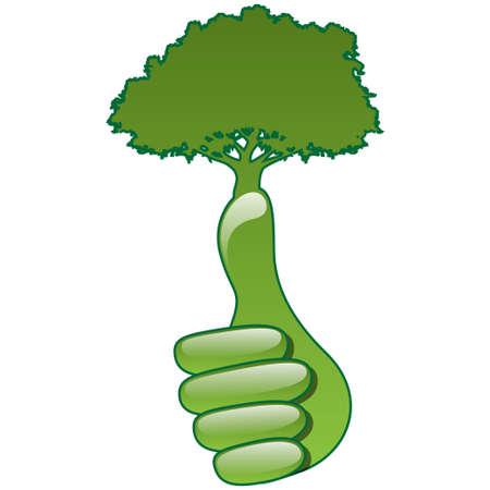 Eco hand Stock Vector - 14110730