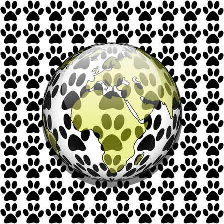 spoor: Protection of animals Stock Photo