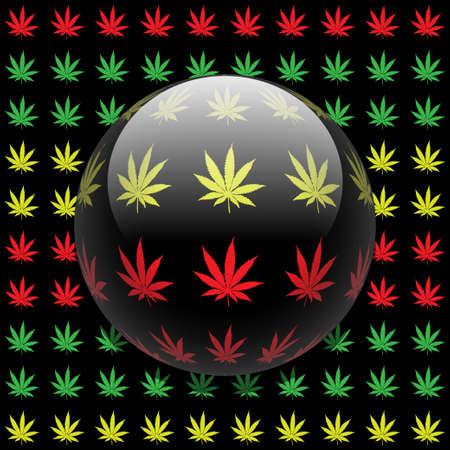 cannabis leaf: Marijuana background