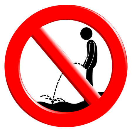 piss: Il segno di divieto