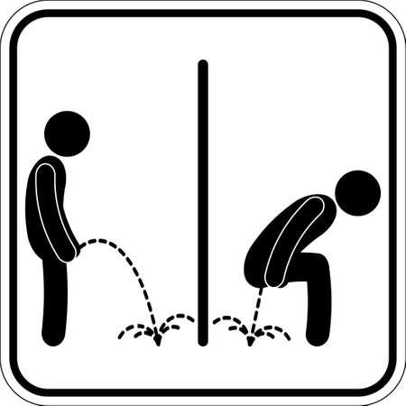 シンボル: トイレのシンボル  イラスト・ベクター素材