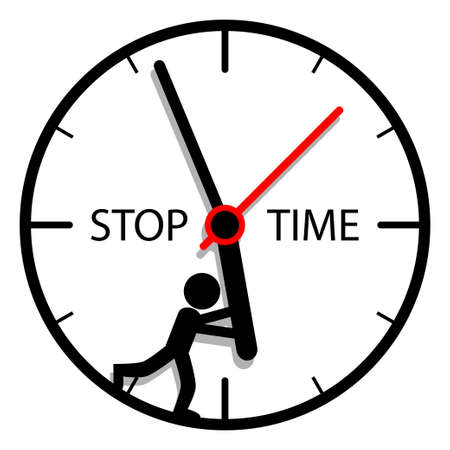 massage symbol: Stop time Illustration