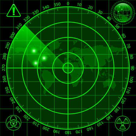 riesgo biologico: Radar pantalla