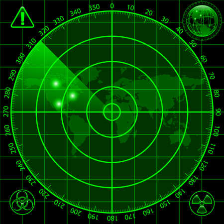 biohazard symbol: Radar screen