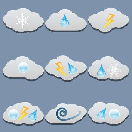 precipitation: Clouds set
