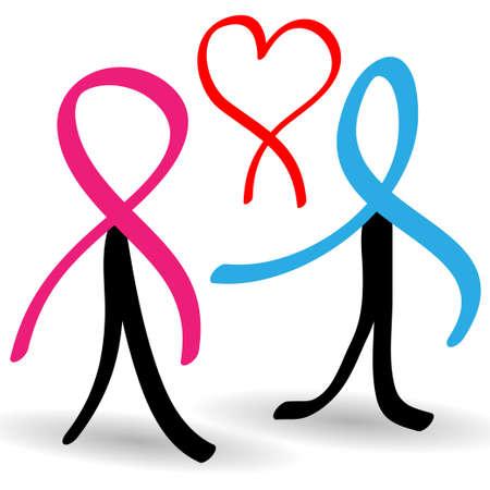 gaza: Apoyar a las personas infectadas con SIDA Vectores