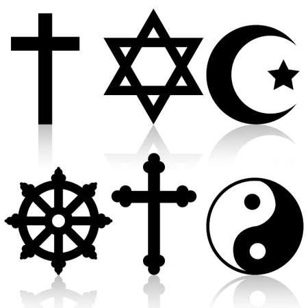 symbole de la paix: Les symboles religieux Illustration