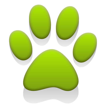 go green icons: Paw Print Illustration