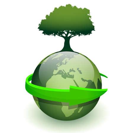 Green Earth Stock Vector - 16459408
