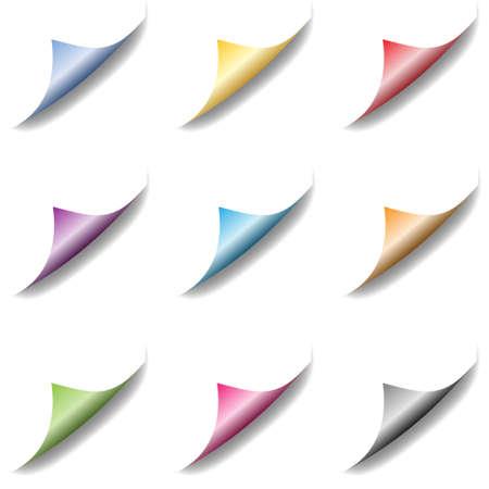 bent: Set of bent page corners