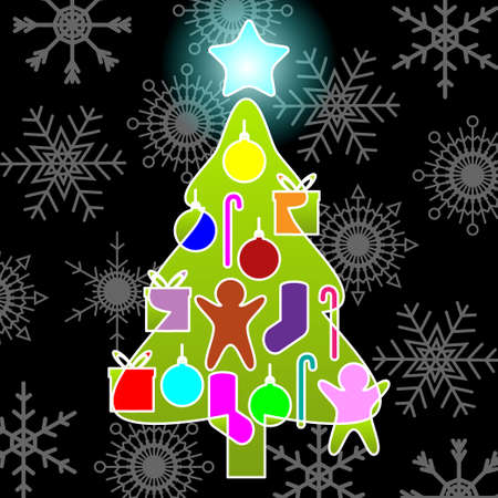 Christmas tree Stock Vector - 16799382