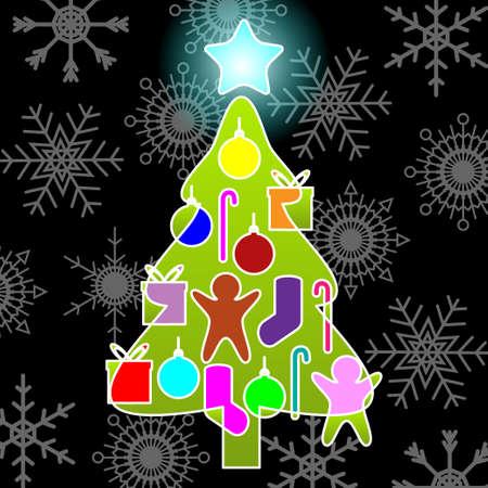 Christmas tree Stock Vector - 16799382