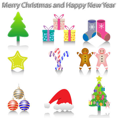 New Year Icons Stock Photo - 16901738