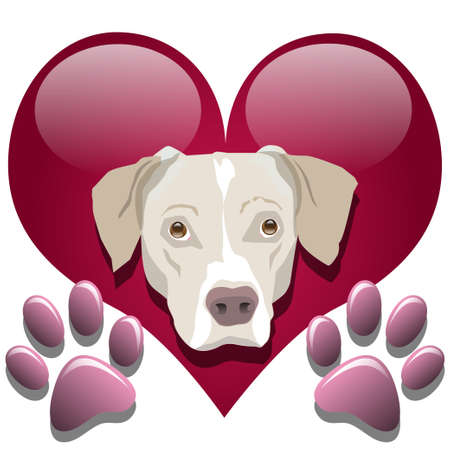 Love for dogs Stock Vector - 16960644