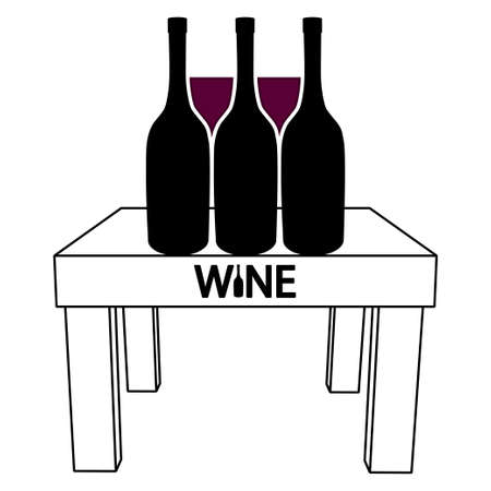 Wine on the table Stock Vector - 17130488