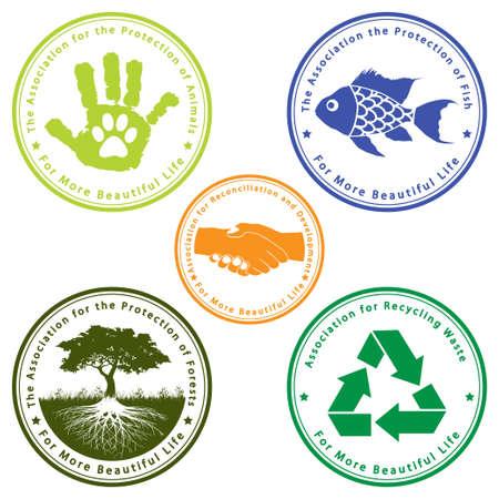 bondad: Set de iconos para una vida más hermosa Vectores
