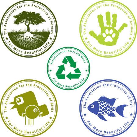 asociacion: Set de iconos para una vida más hermosa Vectores