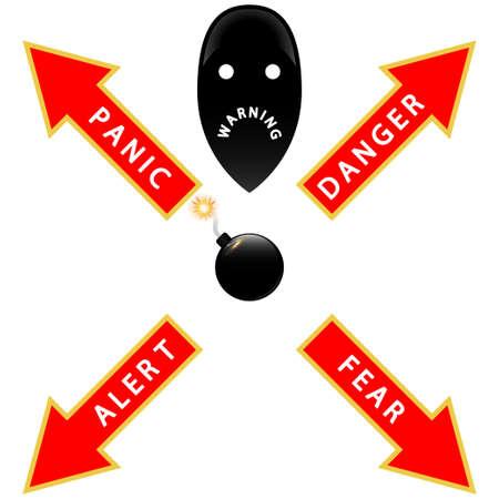 Bomb Warning Stock Vector - 17589510