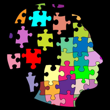 brain game: Puzzle man Illustration