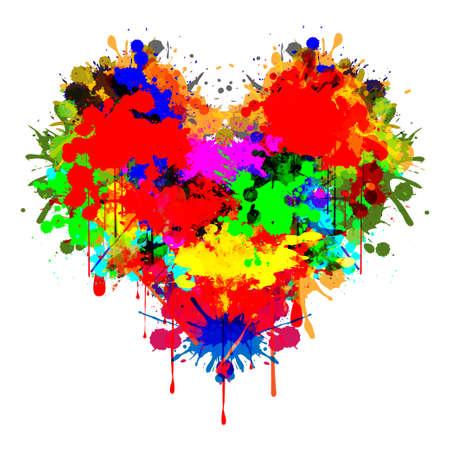 Corazón colorido Ilustración de vector