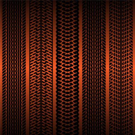 Tire tracks Stock Vector - 17965348
