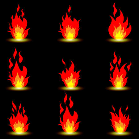 Fire symbols Stock Vector - 18214777