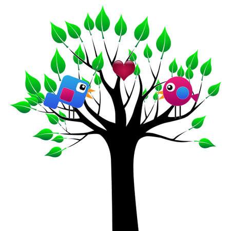 birdie: Love birds Illustration