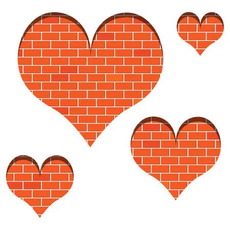 Wall of love Vector