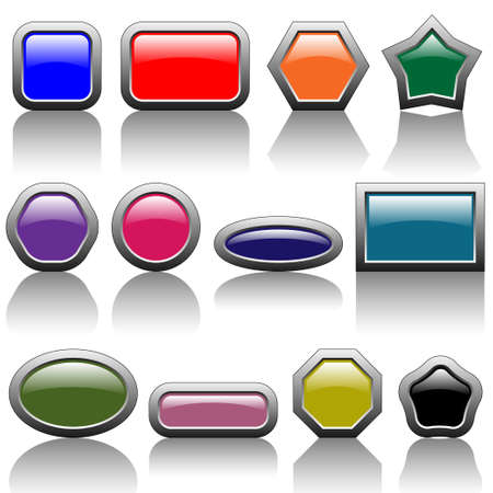 Colorful buttons Stock Vector - 18738389