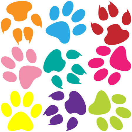 dog run: Paw Prints Background