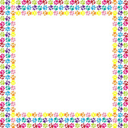 spoor: Paw print frame