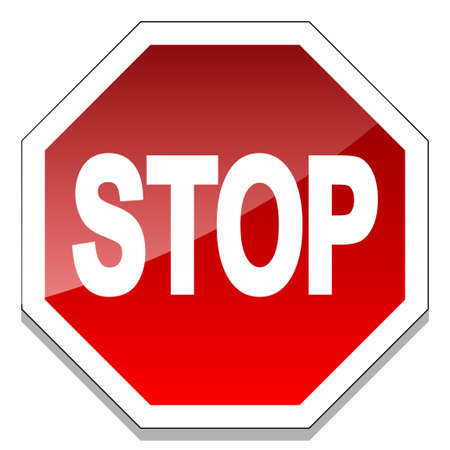with stop sign: Stop sign Illustration