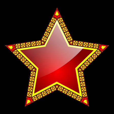 five stars: Red star