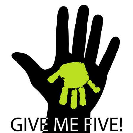 Give me five Illustration