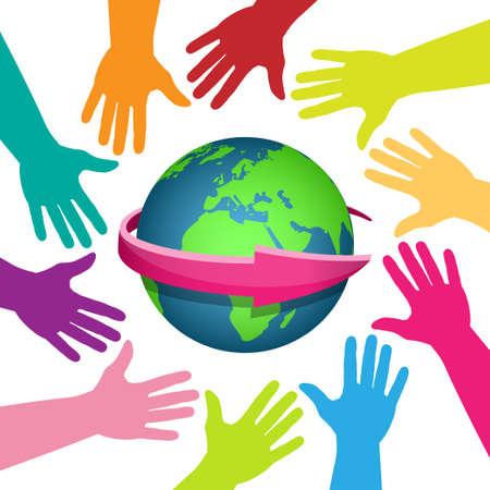 mundo manos: Mundo diverso