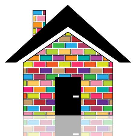 brick house: A colorful house